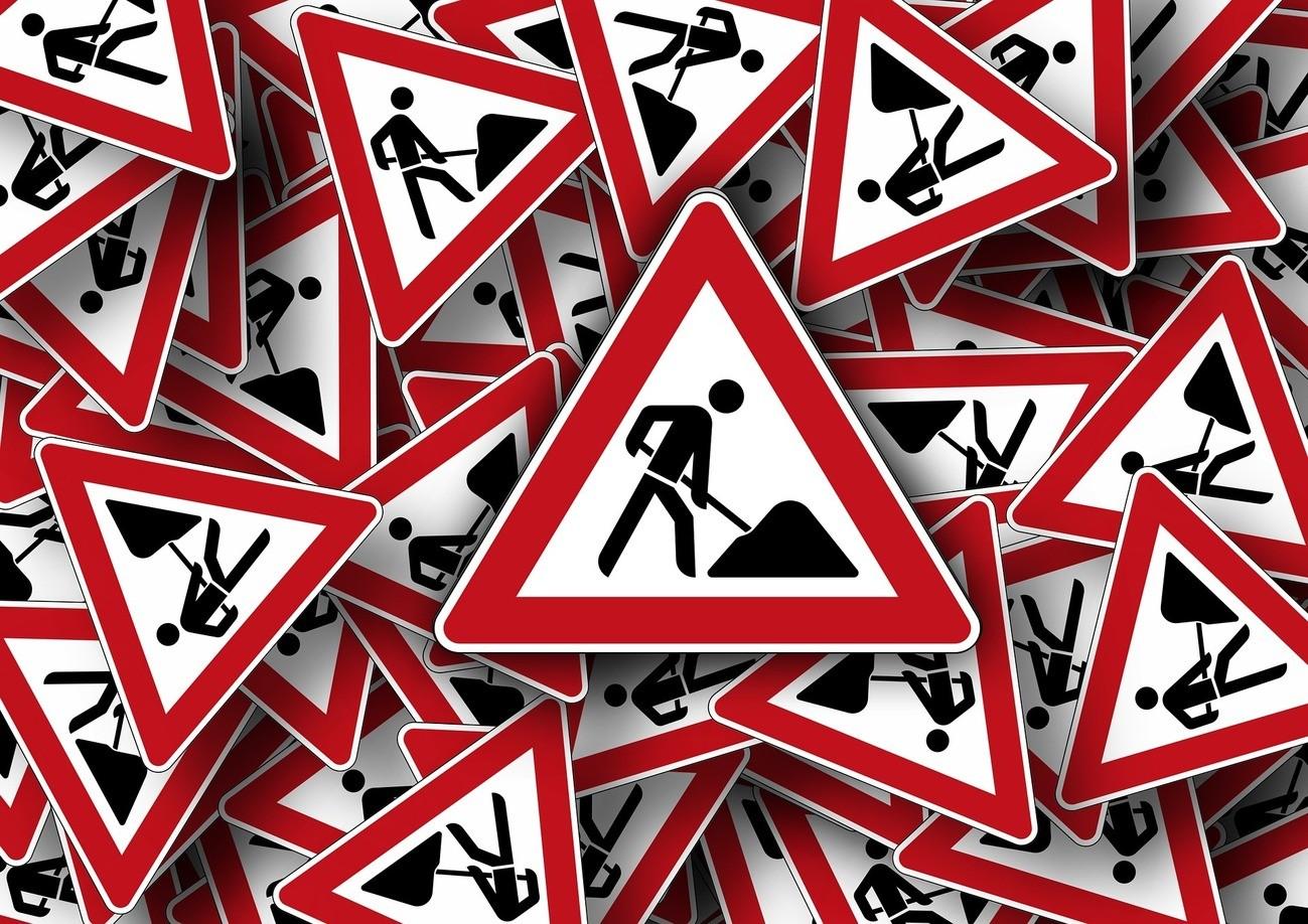 Baustellenverkehrszeichen