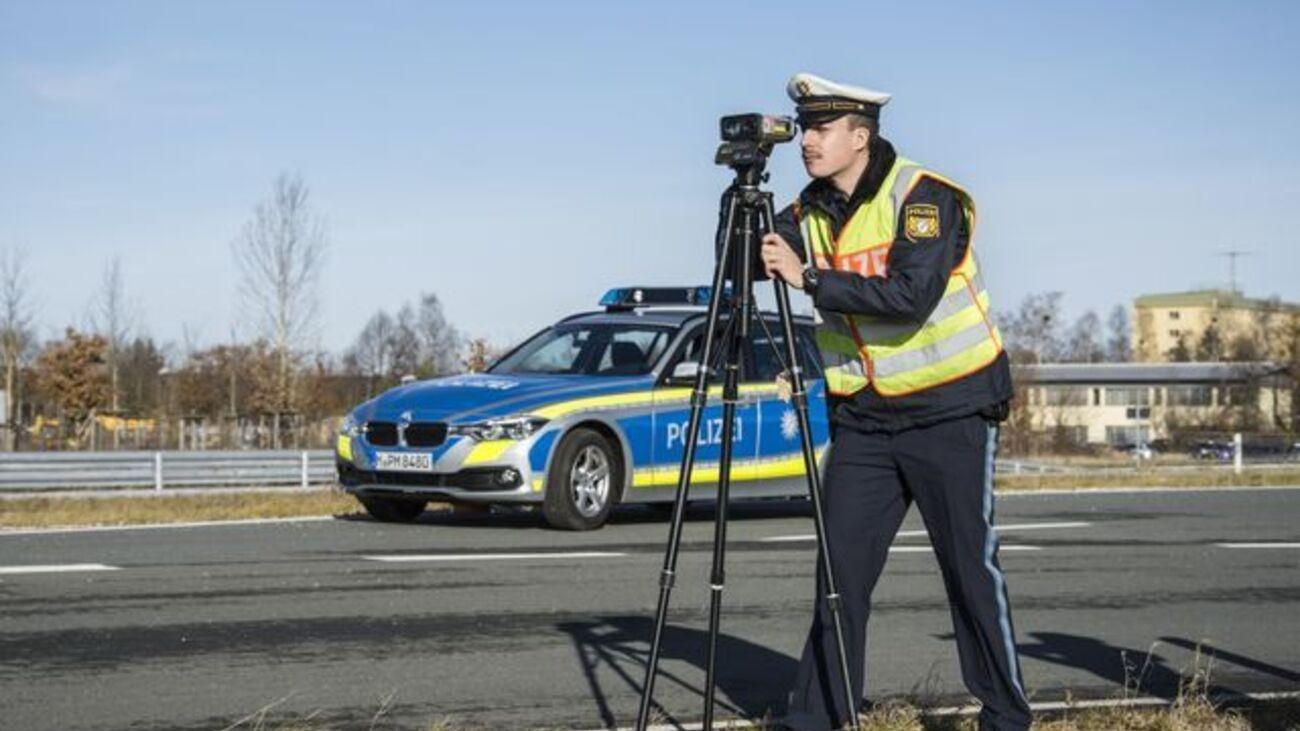 Radarkontrolle, © Bayerische Polizei